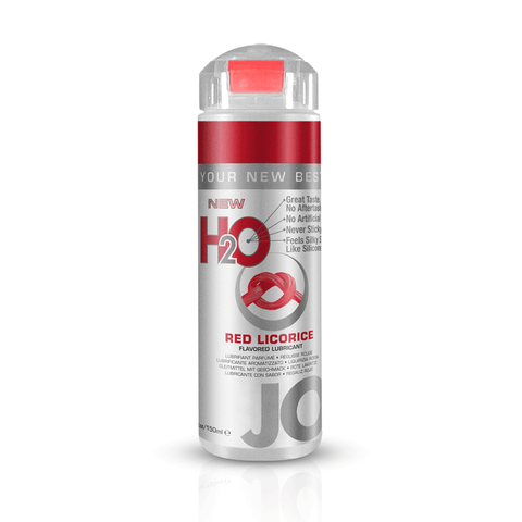 System JO Red Licorice H2O Water Based Lubricant - Peachy Keen  - 1