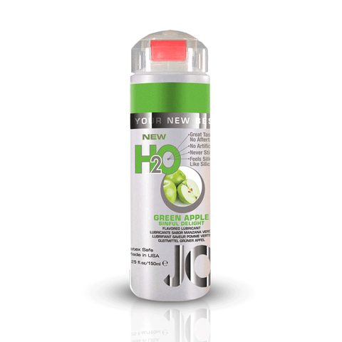 System JO Green Apple H2O Water Based Lubricant - Peachy Keen  - 1
