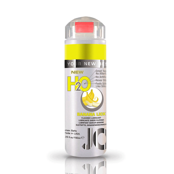 System JO Banana Lick H2O Water Based Lubricant - Peachy Keen  - 1