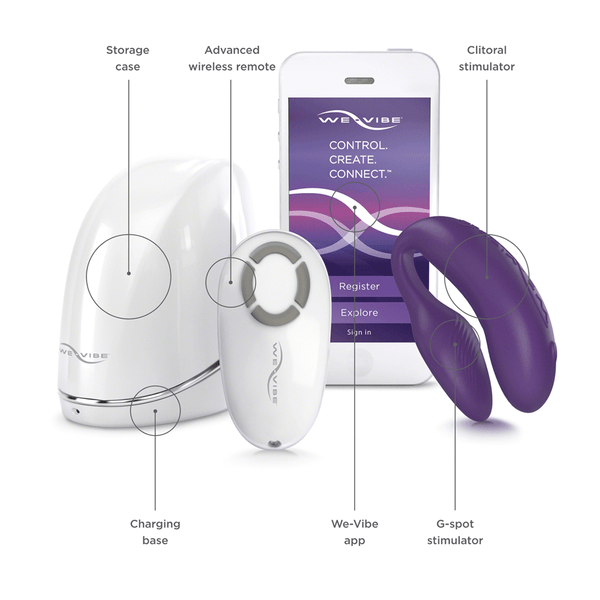 We-Vibe 4 Plus Couples Vibrator - Peachy Keen  - 6
