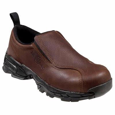 Nautilus Safety Footwear:  Women's Brown Steel Toe Slip-On Shoe 1621
