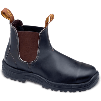 Blundstone: #172 Stout Brown Premium Leather Steel Toe