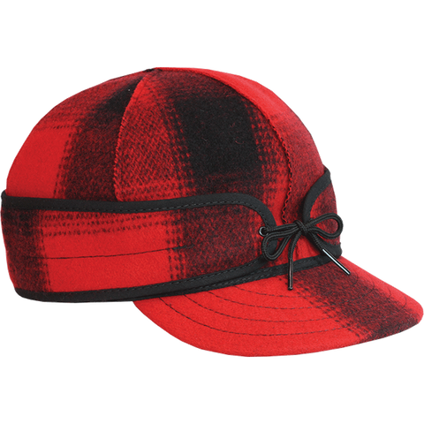 Stormy Kromer: The Mackinaw Cap Red/Black Plaid