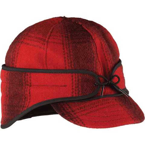 Stormy Kromer: The Rancher Cap Red/Black Plaid