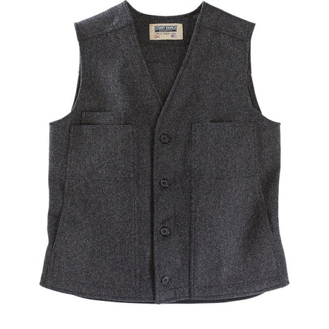 Stormy Kromer: The Button Vest Charcoal