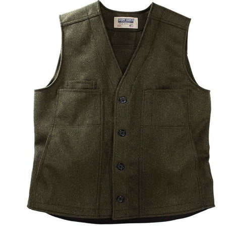 Stormy Kromer: The Button Vest Olive