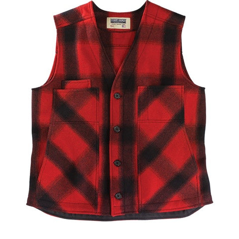 Stormy Kromer: The Button Vest Red/Black Plaid