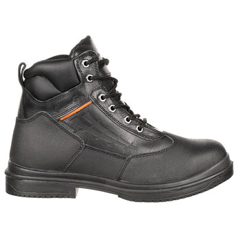 Genuine Grip: 7800 Men's Waterproof Steel Toe Black