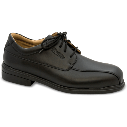 Blundstone: #780 Black Leather Lace Up Steel Toe