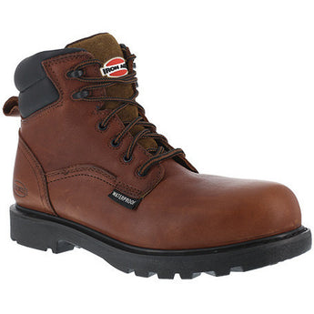 "Iron Age: Dozer EH, Hauler 6EH, BROWN 6"" WORK BOOT, INT MET GUARD, STEEL TOE IA0163"