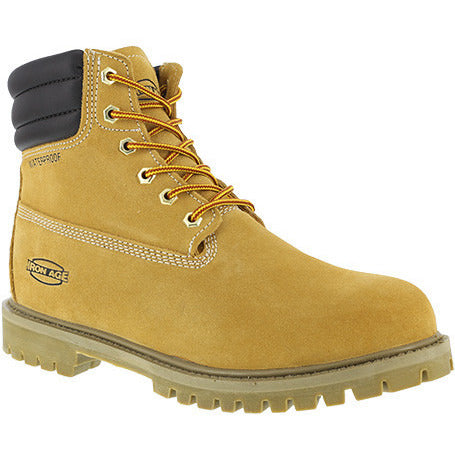 "Iron Age: Steadfast EH, WP, IN, WHEAT 6"" WORK BOOT, STEEL TOE IA0161"