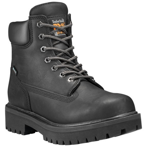 "Men's Timberland PRO® Direct Attach 6"" Soft Toe Boots Black"