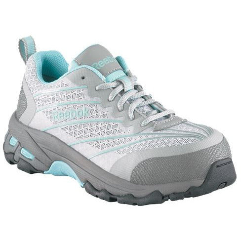 Reebok Work: Womens Exline Teal and Grey Composite Toe Oxford RB421
