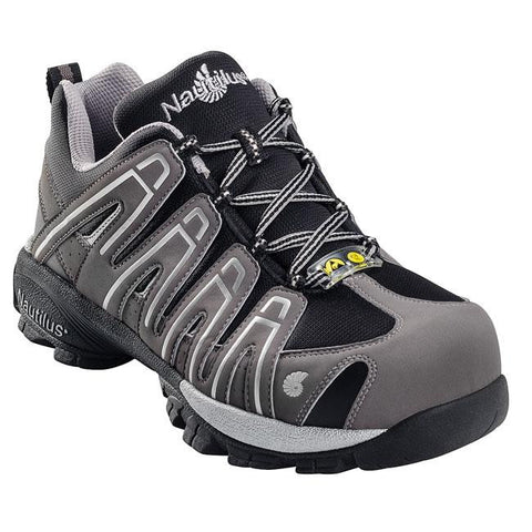 Nautilus Safety Footwear: 1340, Men's Composite Toe SD Athletic in Grey