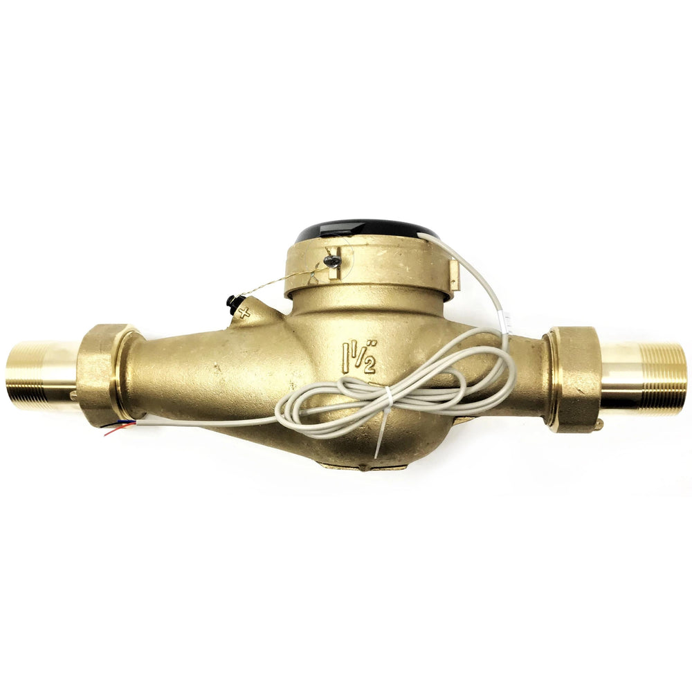 "1-1/2"" Bronze Multi-Jet Water Meter with Pulse Output"