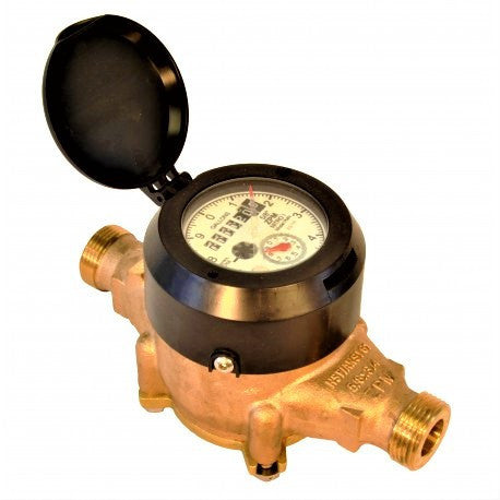 "Zenner Water Meter: Bronze Multijet (Sizes 1/2"" to 2"")"
