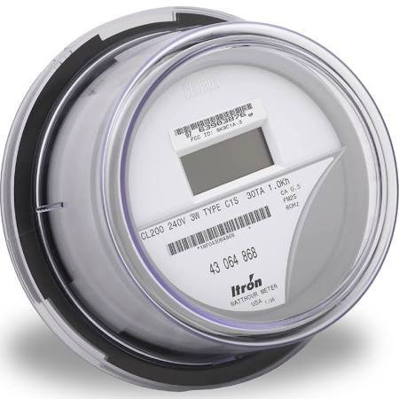 Itron AC Kilowatt-Hour Digital Electric Meter - REMFG ...