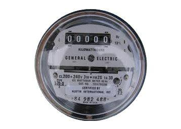 Industrial Meters - GE Kilowatt Hour Reconditioned Electric Meter