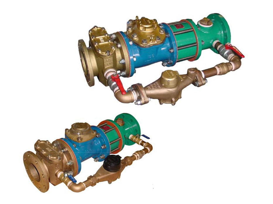 Compound Water Meters Iron Body Epoxy Coated