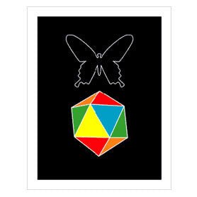 Butterfly Color Dice Print