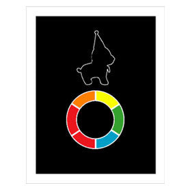 Bear Dog Color Wheel Print