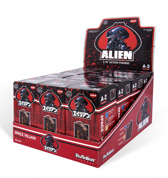 Alien Blind Box Xenomorph ReAction Figure Wave 2 - Sealed Flat (12 Figures)