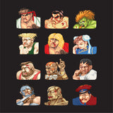 Street Fighter 2 Continue Faces T-Shirt