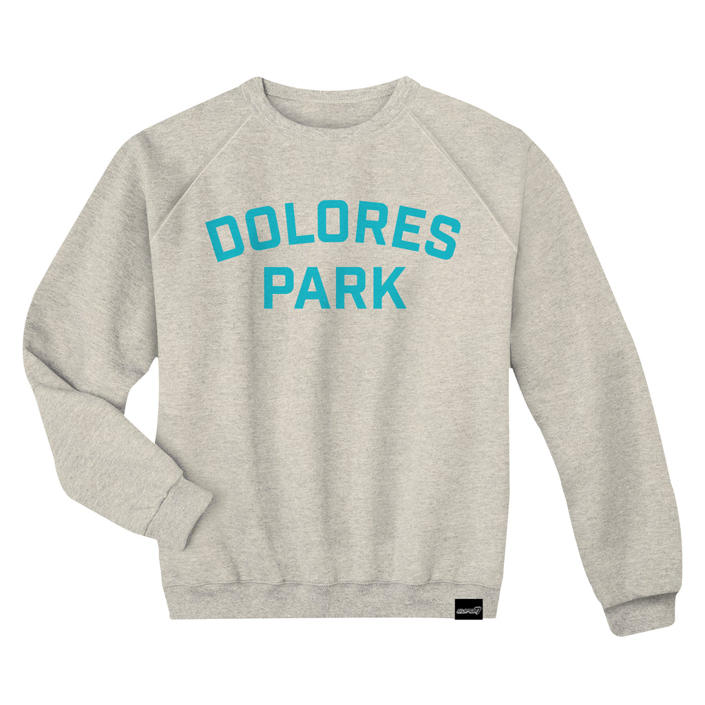 Dolores Park Wheat with Turquoise Crewneck