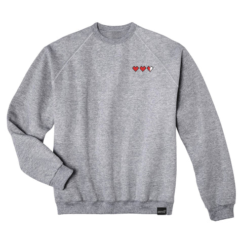 Tri-Heart Embroidered Crewneck Sweatshirt