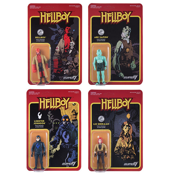 Hellboy Retro Action Figures - Set of 4