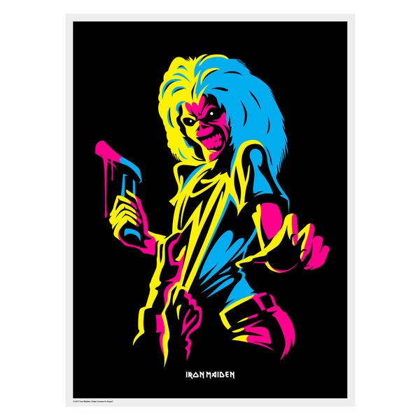 Iron Maiden - Killers Flocked Black Light Poster
