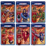 Masters of the Universe ReAction Figures Wave 3  - Full Set (6 Figures)