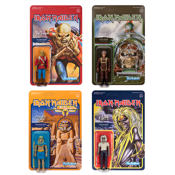 Iron Maiden - Eddie ReAction Figures (Set of 4)