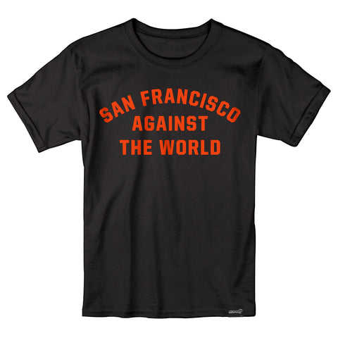 San Francisco Against The World T-Shirt - Orange & Black