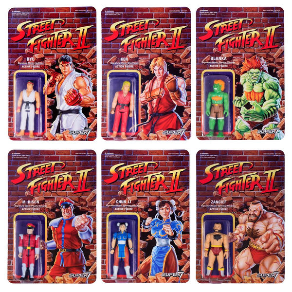 Street Fighter 2 Retro Action Figures - Set of 6