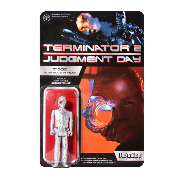 Terminator 2 - T1000 Officer with Hole In Head ReAction Figure