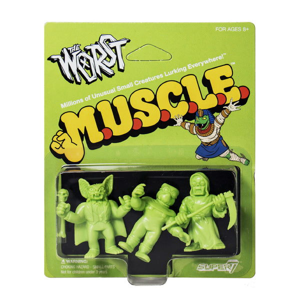 The Worst MUSCLE 3-Pack - Pack A Green