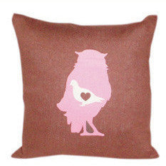 Birds of a Feather Pillow [Mocha]