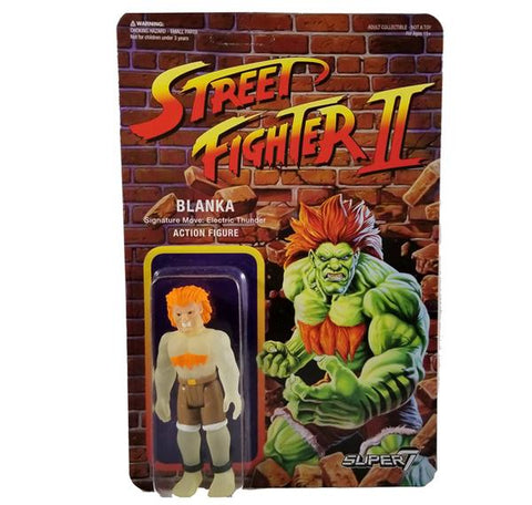 Street Fighter 2 - Glow In The Dark Blanka ReAction Figure