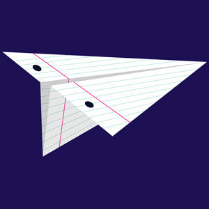 Paper Airplane Navy Blue T-Shirt