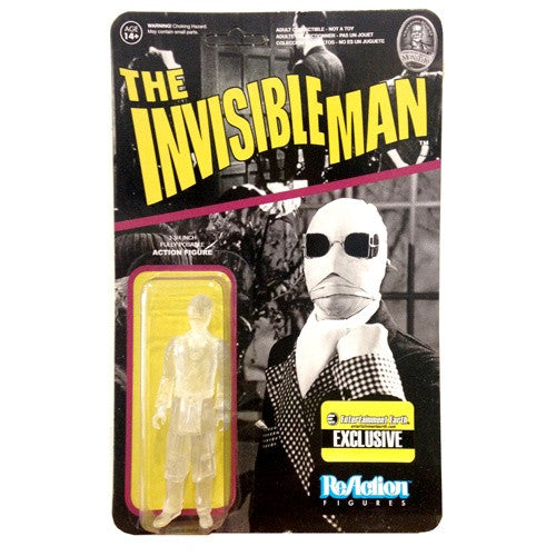 Universal Monsters - Invisible Man (Clear/Transparent) ReAction Figure