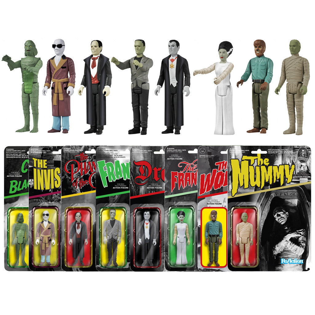 Universal Monsters ReAction Figure Set