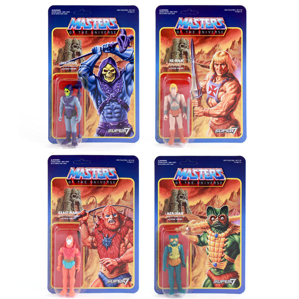 Masters of the Universe Retro Action Figure Wave 1 (Set of 4)