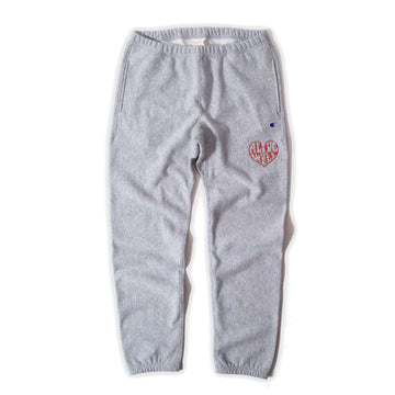Heart Logo Reverse Weave Sweatpants Oxford Grey
