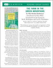 The Farm in the Green Mountains Reading Group Guide