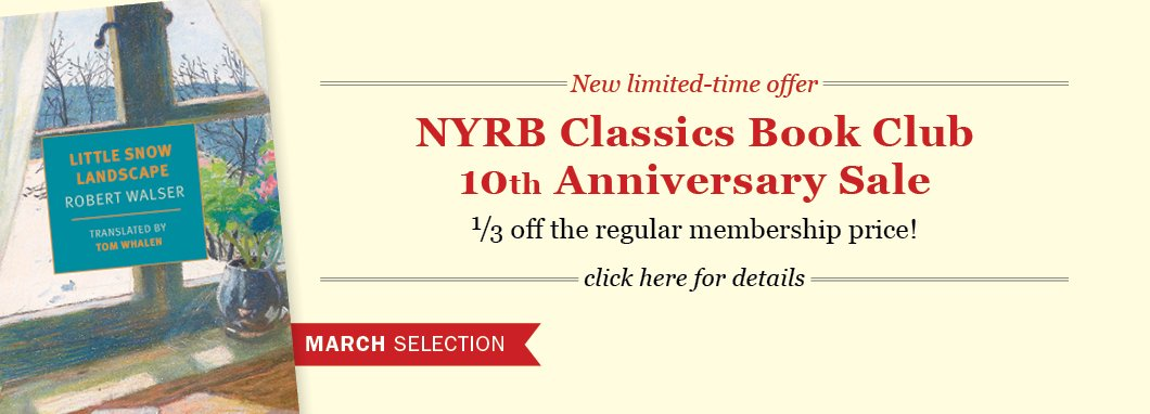 Subscribe to the NYRB Classics Book Club