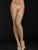 iCollection Thigh High Black/Nude 8601