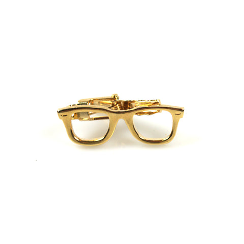 Accessories - Gold Glasses Tie Clip