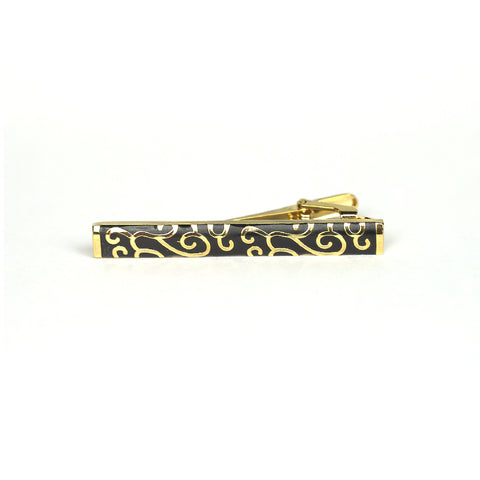 Accessories - Gold 'Patterned' Tie Clip