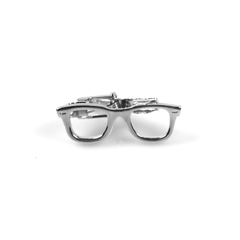 Accessories - Silver 'Glasses' Tie Clip